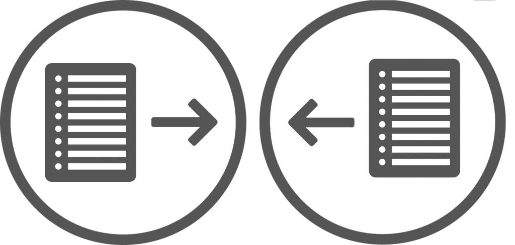 Схема, иллюстрирующая прямой обмен ссылками.